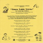 Anchorage Municipal Libraries presents Times Table Ticks
