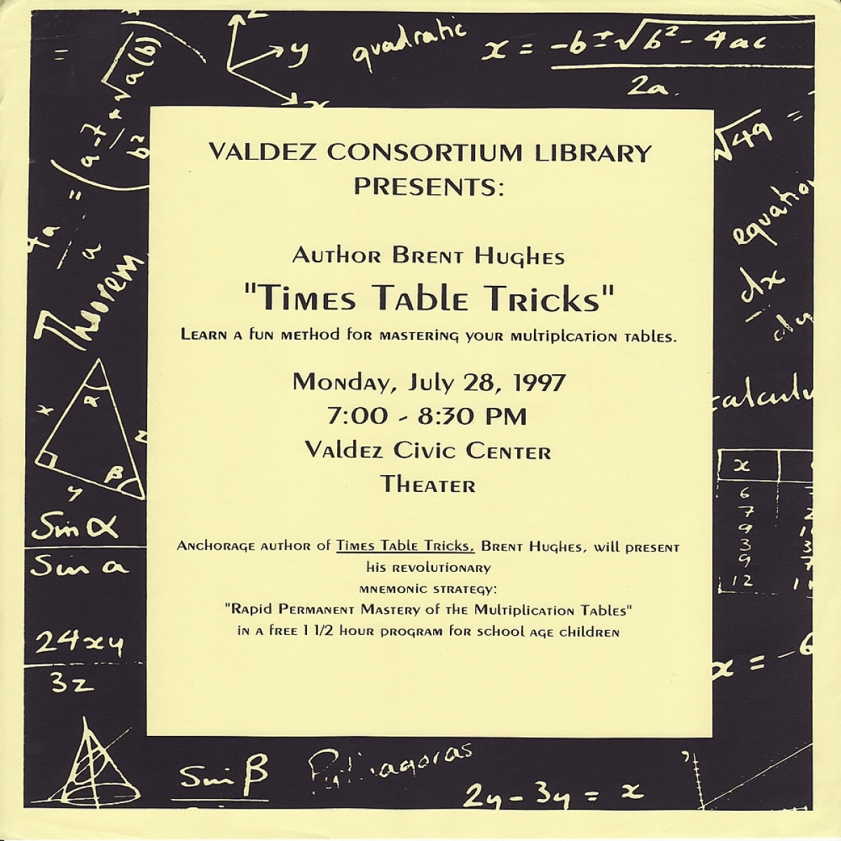 Mastering your multiplication tables in Valdez Alaska